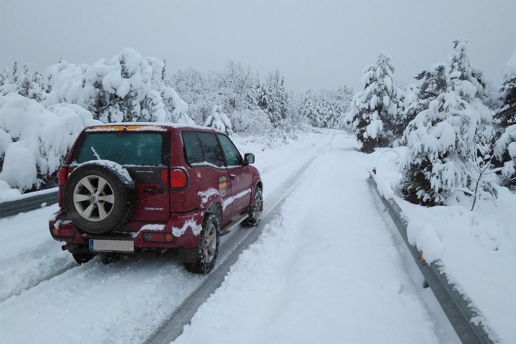 Decenas de carreteras en todo Aragón afectadas por la nieve