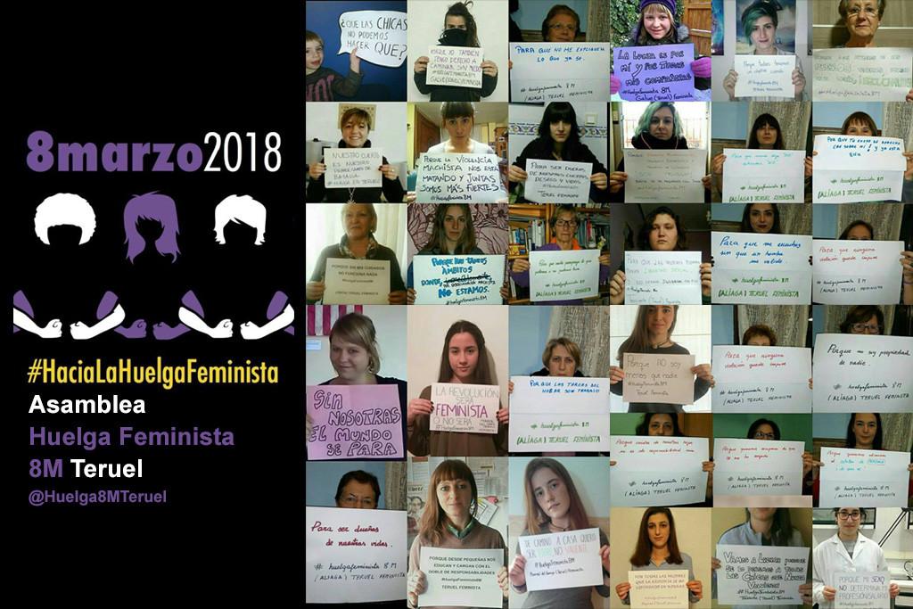 Teruel organiza nuevas acciones preparatorias de la huelga feminista del 8 de marzo