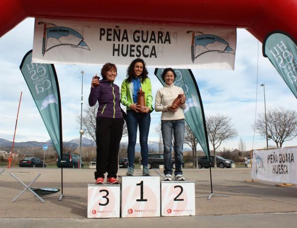 Podium femenino (de izquierda a derecha): Eva Calvo (3ª), Sara Guérin (1ª), Marta Cortes (2ª). Foto: BANFF World Tour Spain