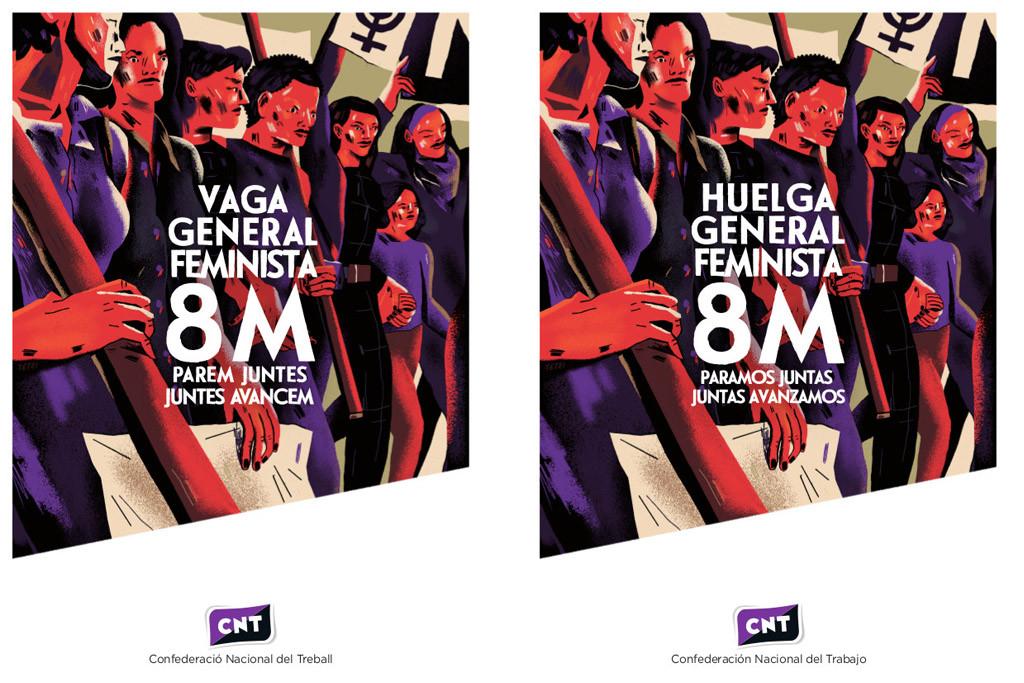 La pintora Yeyei Gómez será la encargada de ilustrar la campaña de CNT para la huelga general feminista de este 8M