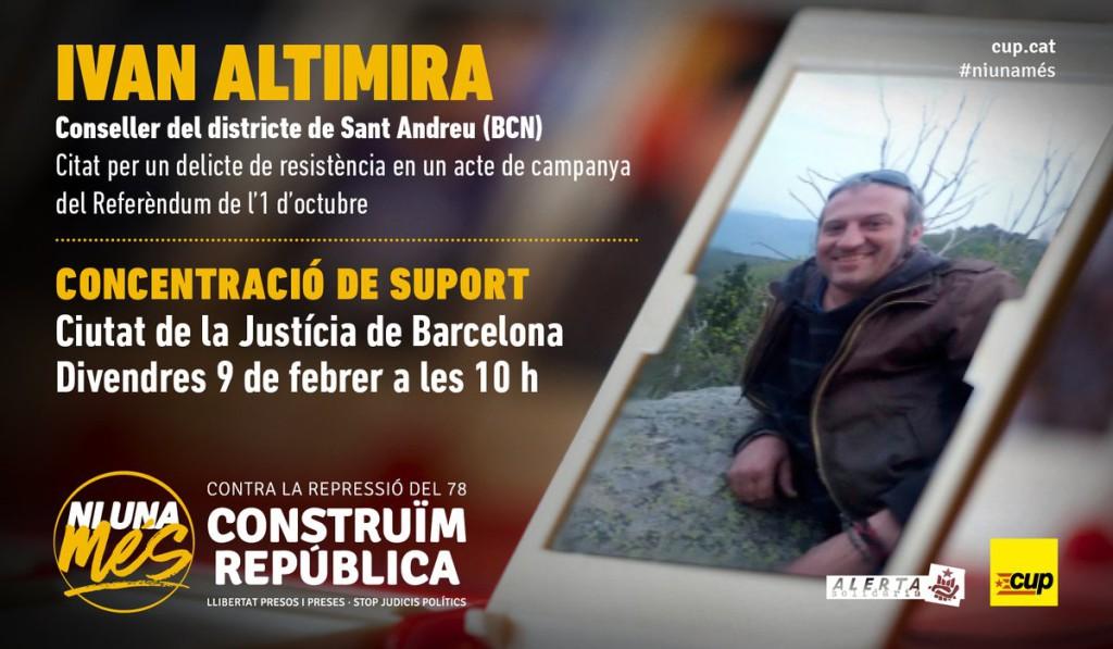 Un conseller de la CUP de Barcelona citado a declarar por un presunto delito de resistencia durante un acto a favor del referéndum