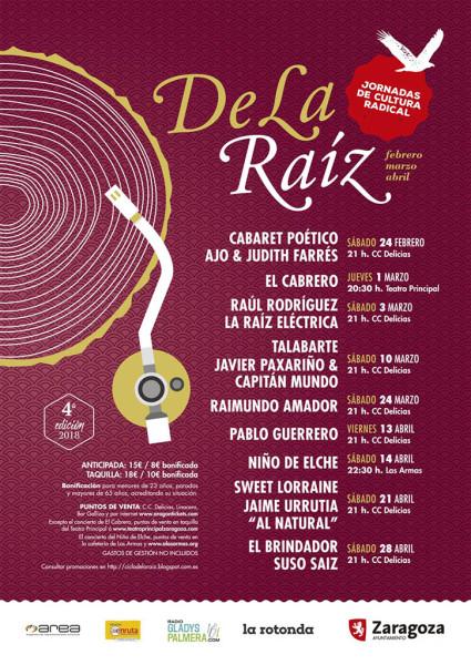 Ciclo La Raiz 2018 zgz cartel