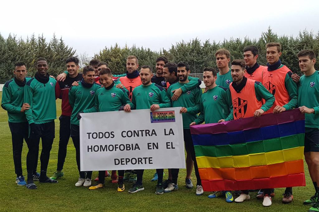 Contra homofobia en futbol SD Huesca