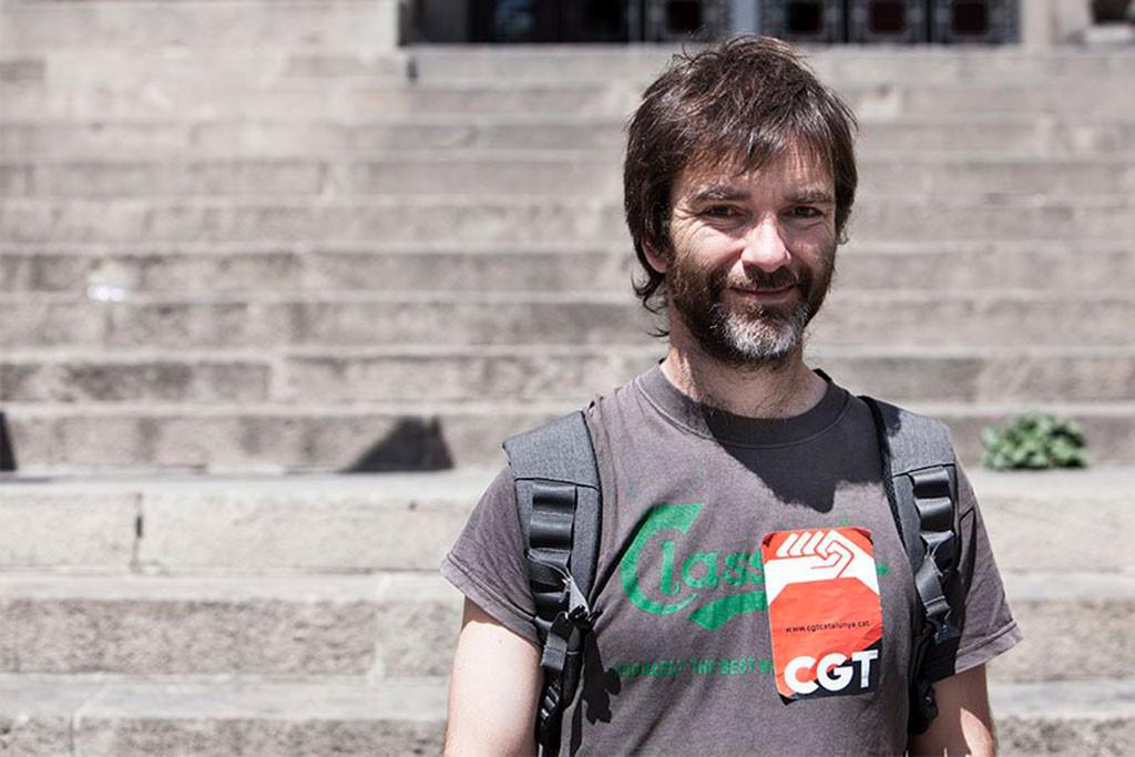 Detenido el secretario de CGT Catalunya por la protestas del caso SOM 27 i més
