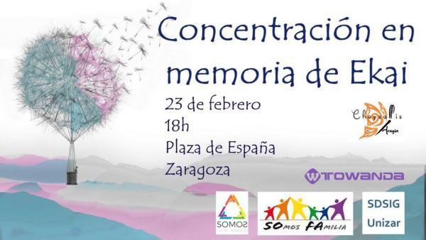 Cartel de la convocatoria en Zaragoza.