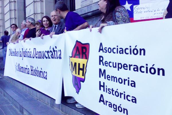 Un acto de ARMHA en Zaragoza. Foto: Josefina Musulén