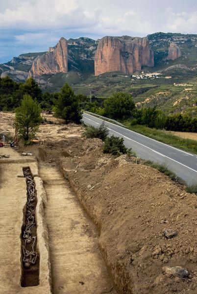 Fosa común en Morillo de Galligo, 30 de junio de 2008. Foto: Miguel Ángel Capapé (Presidente de ARICO)