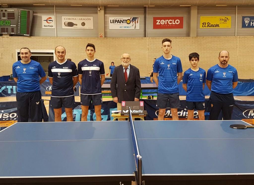 Interesantes encuentros para los equipos aragoneses de Segunda Estatal Masculina de tenis de mesa