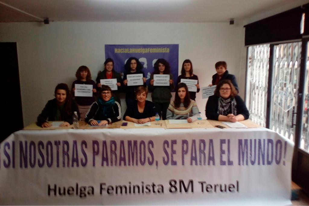 El movimiento feminista del Baixo Aragón convoca la huelga feminista del 8 de marzo