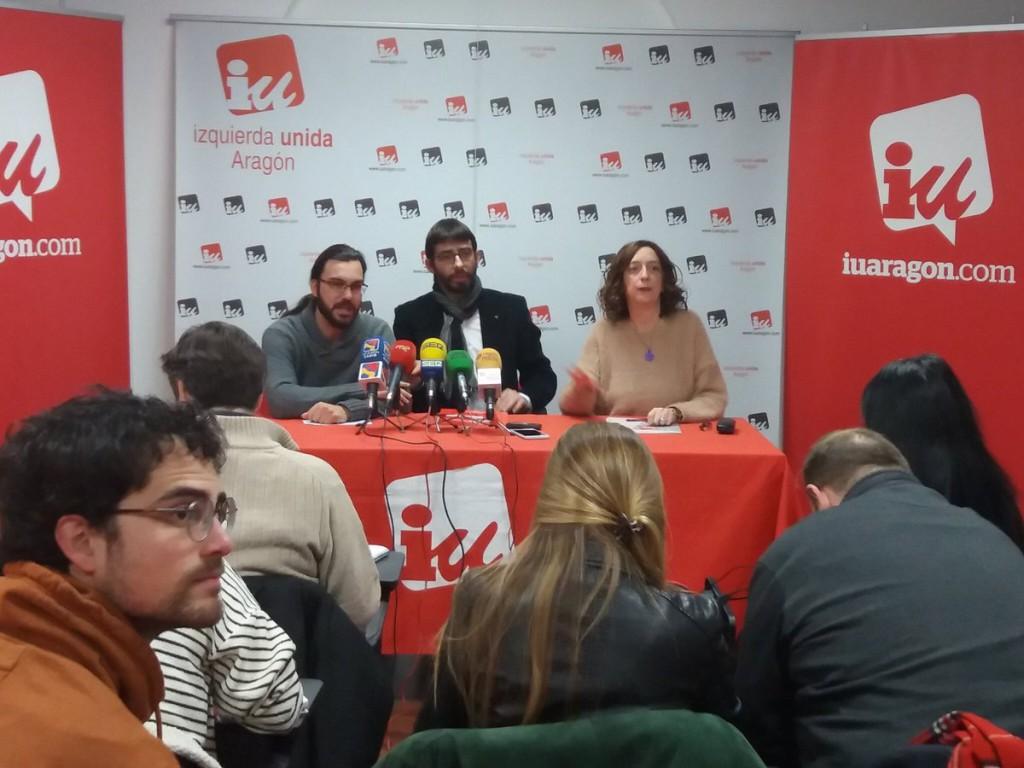 La militancia de IU vota a favor de apoyar los Presupuestos de Aragón para 2018
