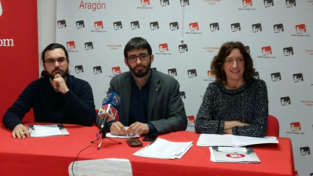 IU consultará a la militancia su voto a los presupuestos de Aragón