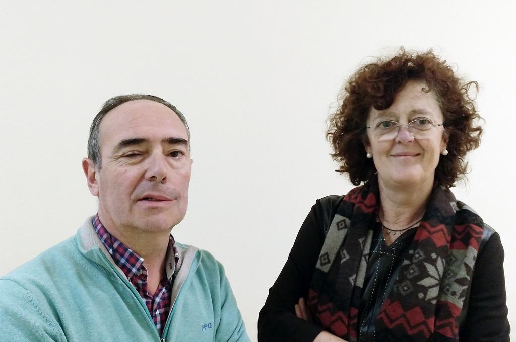 José Manuel Nicolau y Maite Echeverría.