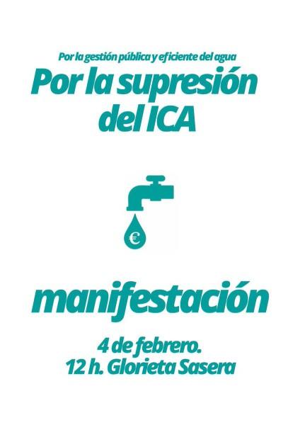 Manifestación NO al ICA