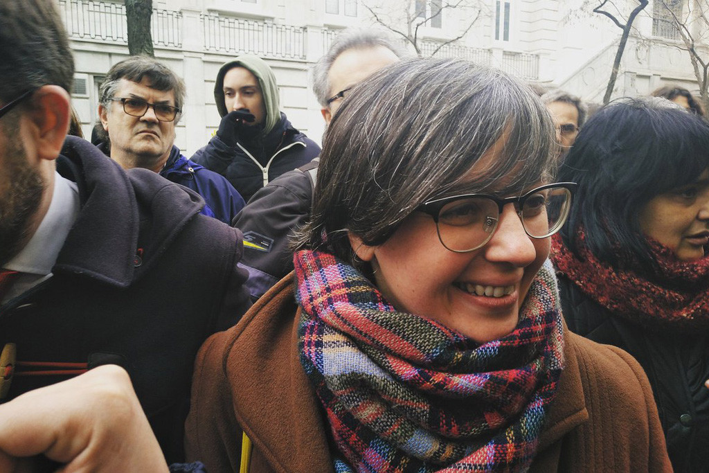 La exdiputada de la CUP Mireia Boya, en libertad y sin medidas cautelares tras declarar en el Supremo