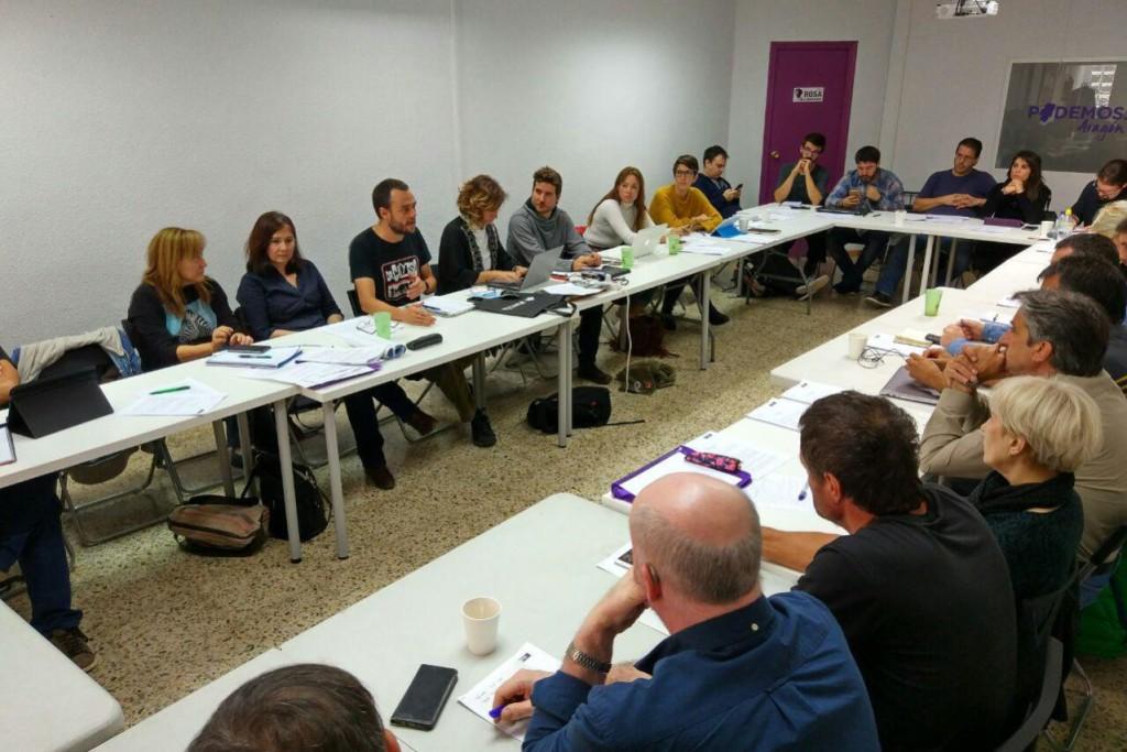 La participación en las primarias de Podemos a las Cortes de Aragón supera el 62,5%