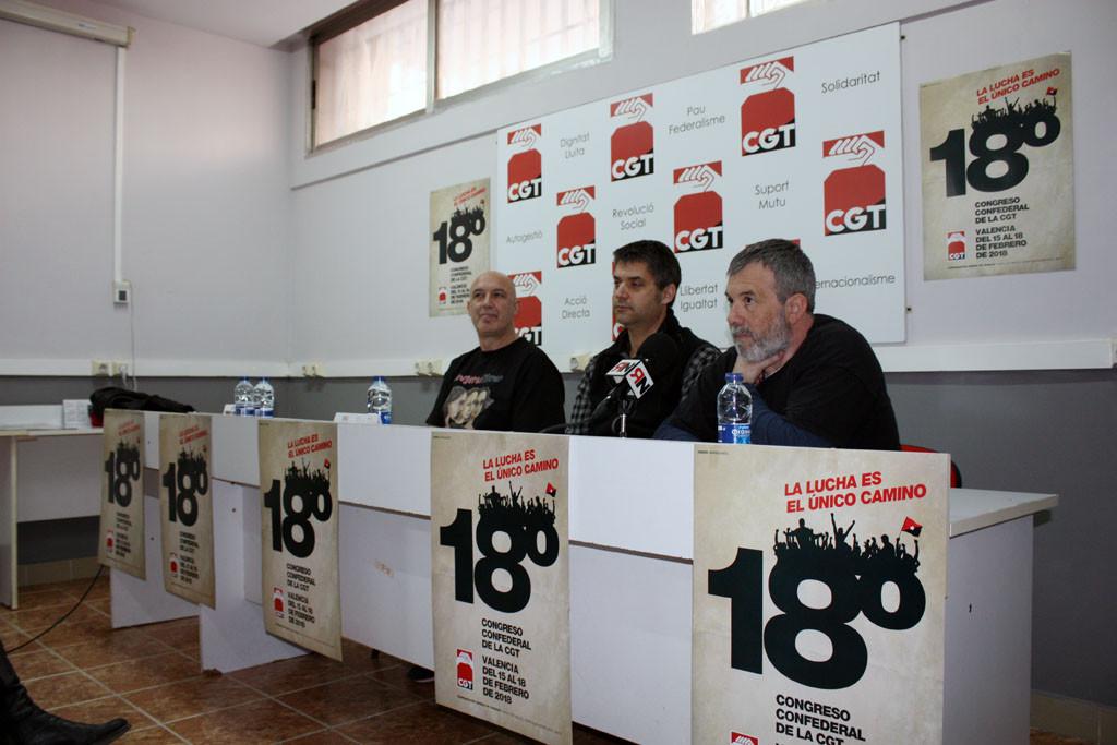 CGT celebra su XVIII Congreso estatal en València
