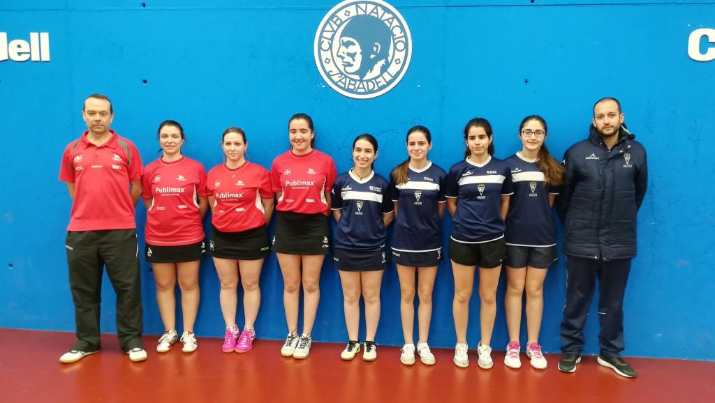 Intenso fin de semana para los equipos aragoneses de ligas estatales en tenis de mesa