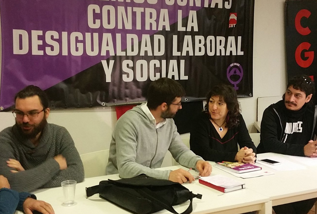 CGT se reúne con IU en contra de la precariedad y en preparación de la huelga general feminista