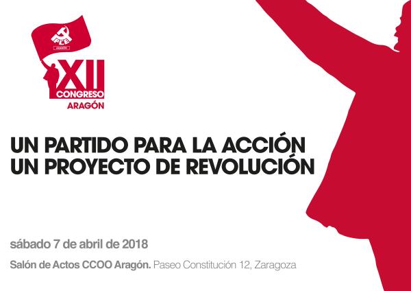 XII Congreso PCE Aragón_cartel horizontal