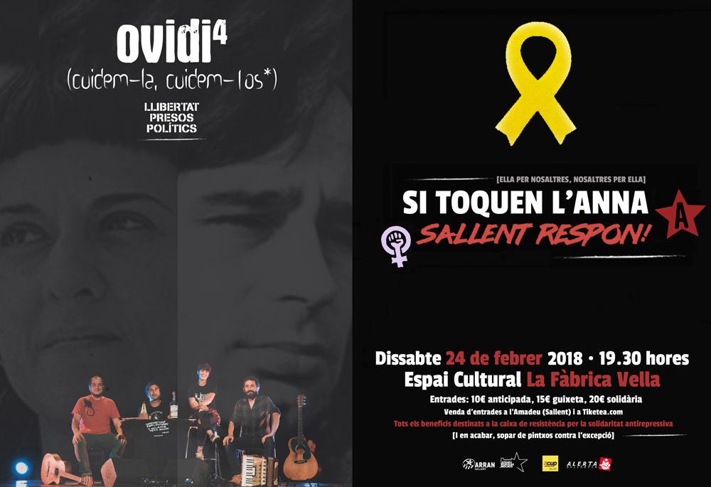 Sallent celebrarà dissabte un concert solidari amb Anna Gabriel