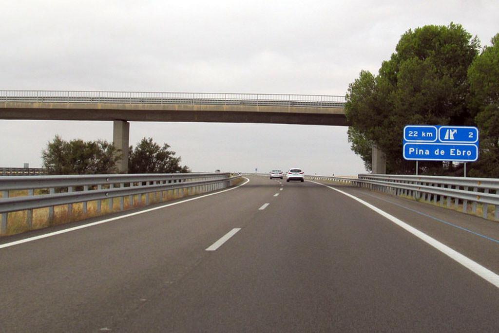 Exigen el final de la concesión para la autopista AP-2 entre Alfajarín y Fraga
