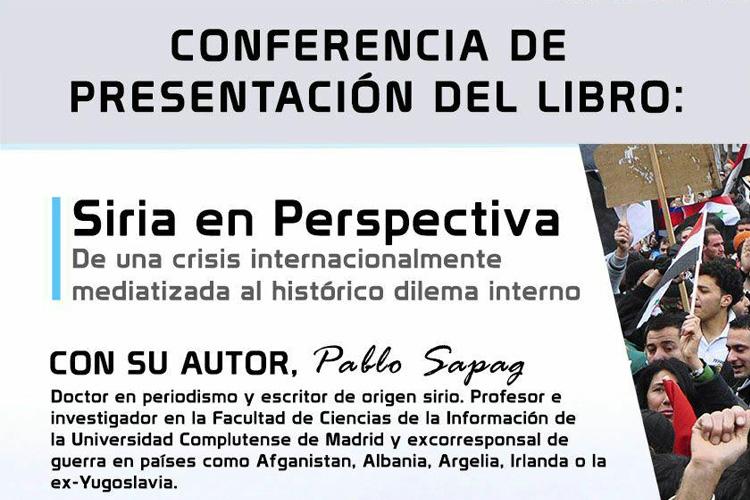 Pablo Sapag imparte una coferencia en Zaragoza sobre la crisis siria