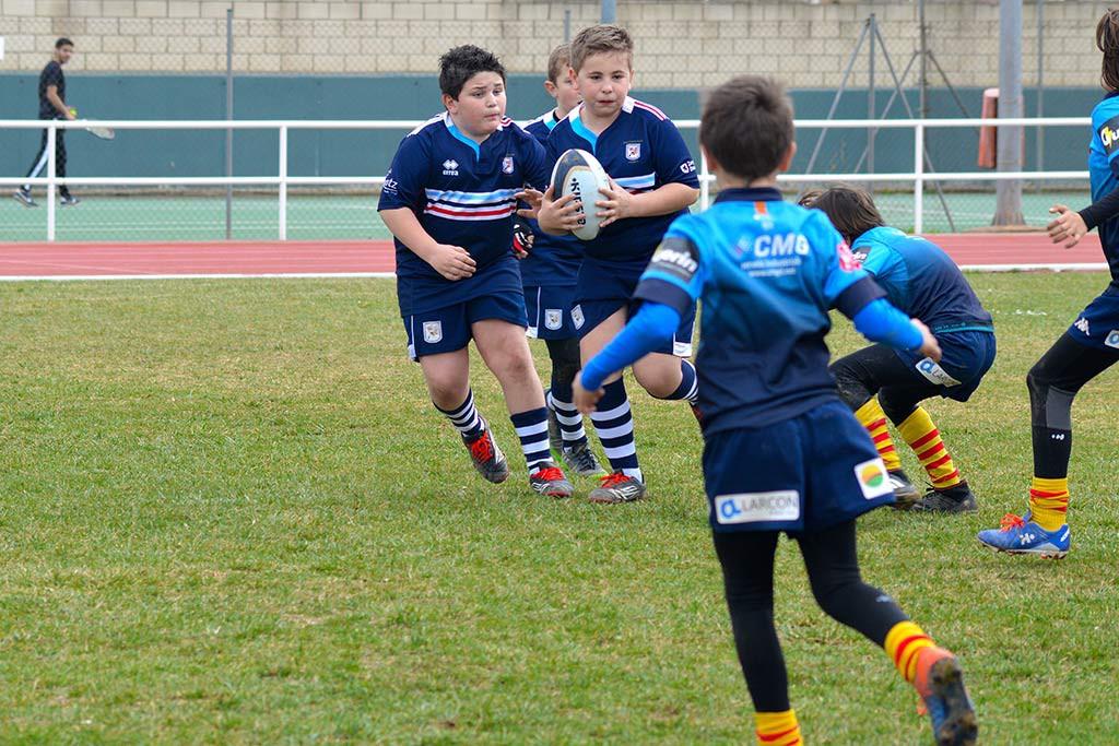 500 niños y niñas de 5 a 11 años disputan este sábado la Cesaraugusta International Rugby Cup