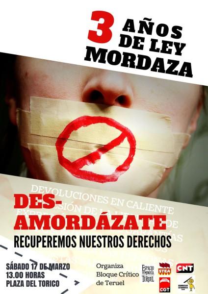 17M desamordazate Teruel