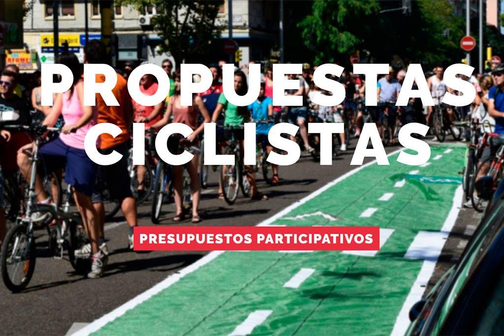 Una web que facilita el acceso a las propuestas ciclistas de los Presupuestos Participativos