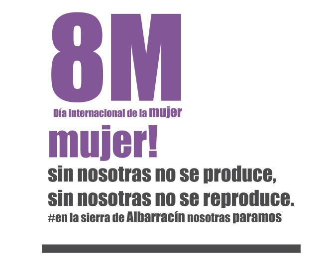 Las mujeres de la Sierra de Albarracín se suman a la convocatoria del 8 de marzo