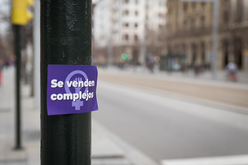 [FOTOS] La lucha feminista protagonista del 8M en Zaragoza