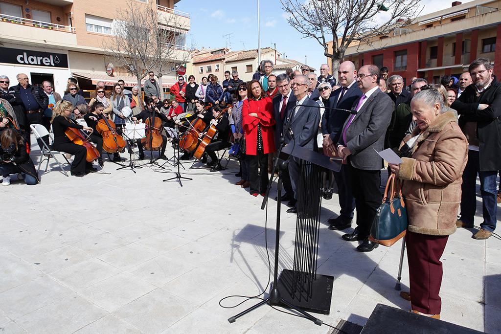 Alcanyiz rememora, a través de una acción participativa, el episodio más duro de la guerra civil en Aragón