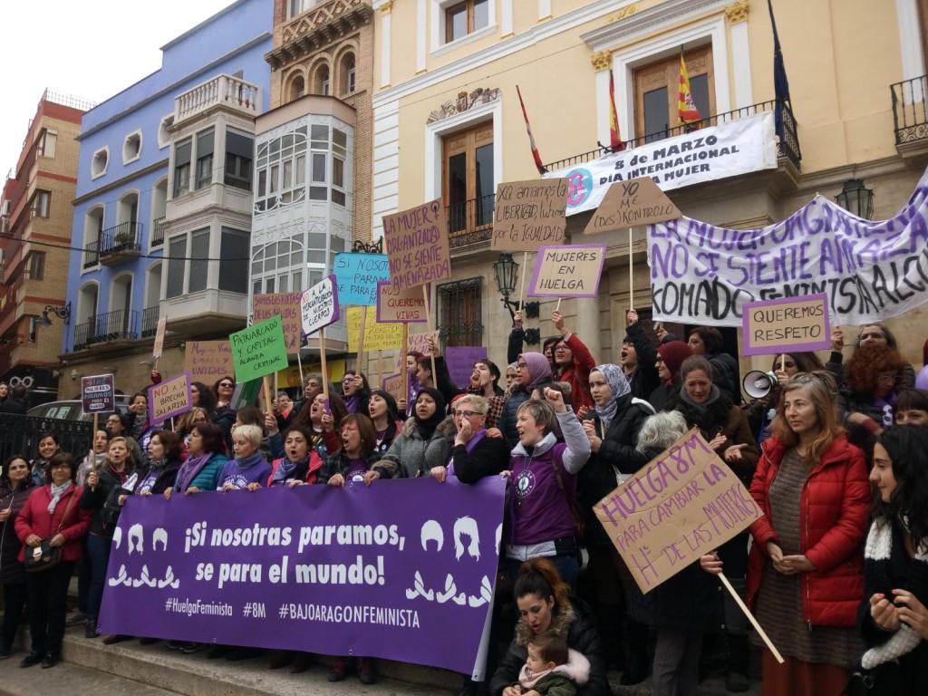CGT Aragón califica como un éxito la jornada de huelga feminista en el territorio