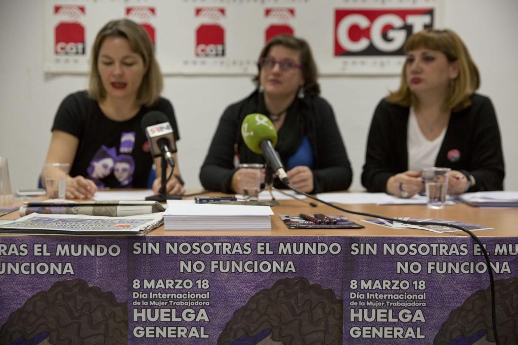 """CGT: """"Hemos trabajado un año, junto a colectivos feministas, para organizar la Huelga General de este 8M"""""""