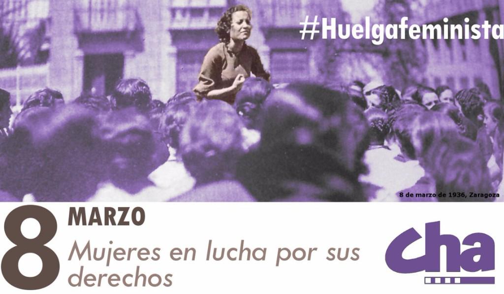 "CHA, con la ""Huelga Feminista del 8 de marzo"""