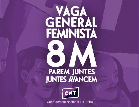 CNT Fraga apoya la huelga general, laboral, de cuidados, estudiantil y de consumo para este 8 de marzo