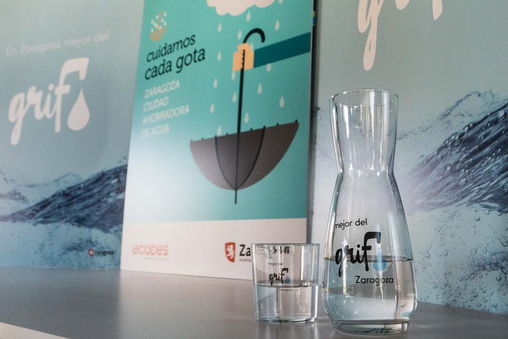 Zaragoza pone en valor el ahorro y la calidad del agua del grifo