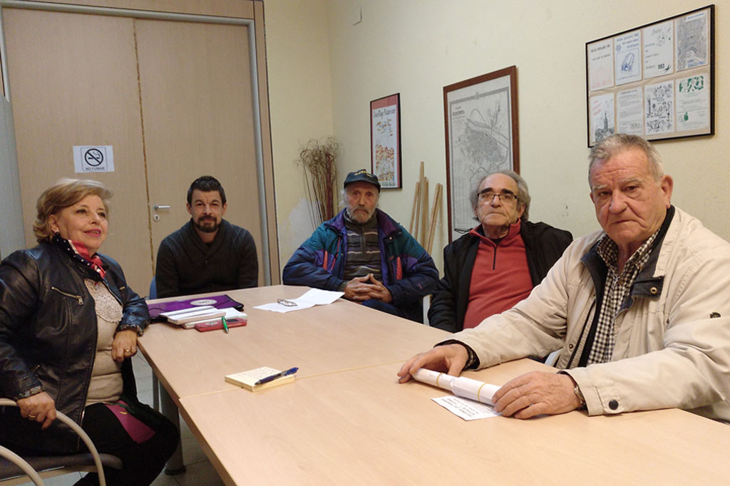 Miembros de la Coordinadora Estatal por la Defensa del Sistema Público de Pensiones de Zaragoza.