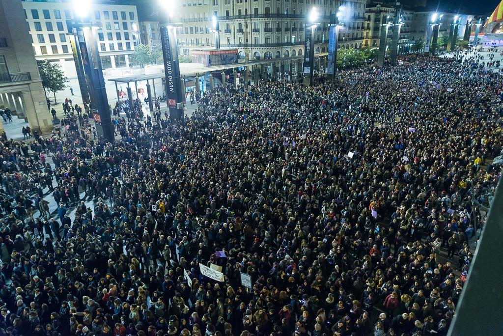 La revolución feminista inunda Aragón