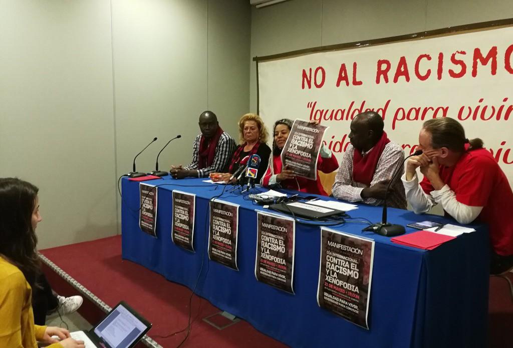 Manifestación en Zaragoza contra la discriminación por origen étnico y racial