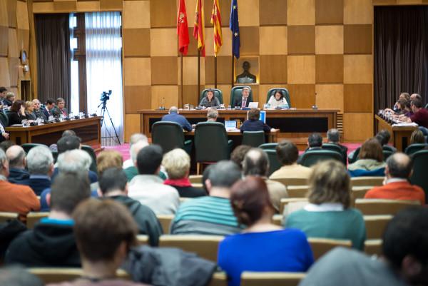 Pleno de Zaragoza. Foto: Pablo Ibáñez (AraInfo)