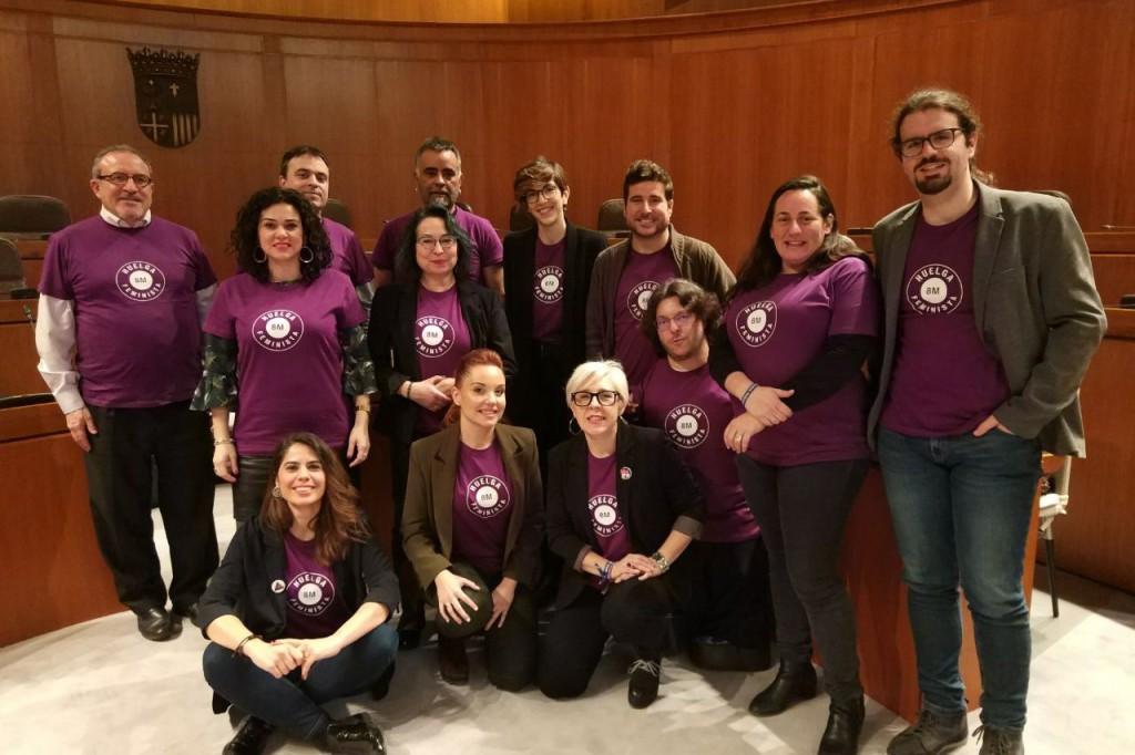 Los diputados y diputadas de Podemos Aragón secundarán la huelga feminista del 8M