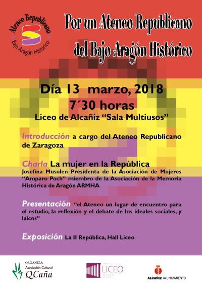 Por un ateneo republicano en el Bajo Aragón Histórico