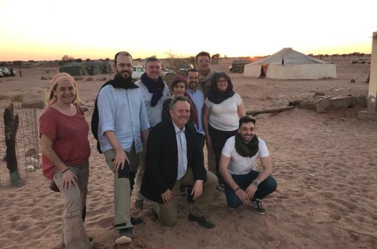 El diputado oscense Jorge Luis transmite la solidaridad de la ciudadanía aragonesa al pueblo saharaui