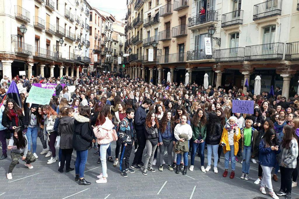 El CSA 'A Ixena' de Teruel habilita un punto de cuidados durante la huelga feminista del 8M