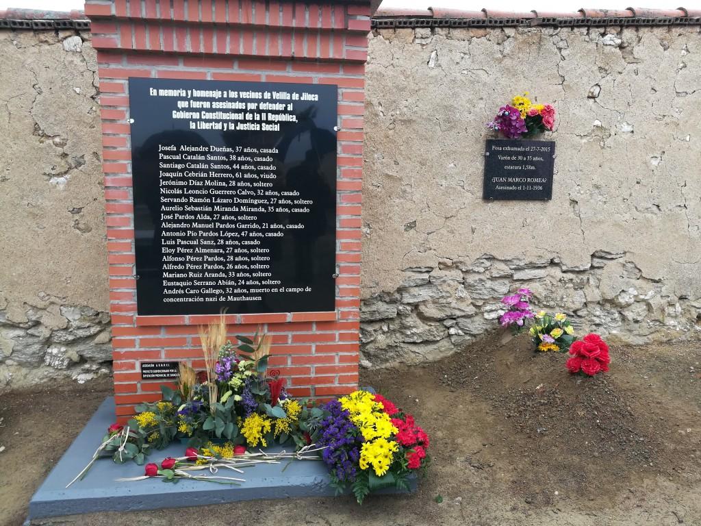 Viliella de Xiloca homenajea a sus vecinas y vecinos víctimas de los fascistas tras el golpe de 1936