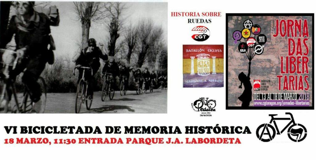 Las Jornadas Libertarias de CGT se cierran con una bicicletada y con las luchas de Kurdistán y Chiapas