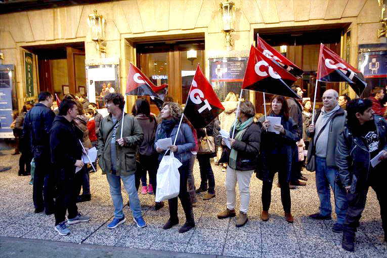 El personal técnico del Teatro Principal de Zaragoza parará todos los miércoles
