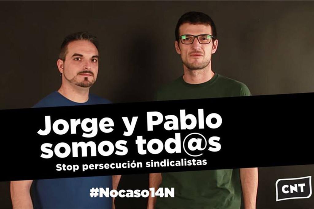 Concentración para reclamar la absolución de Pablo y Jorge en Teruel