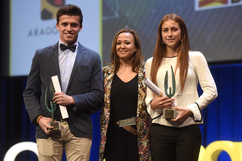 La jugadora de hockey Begoña García y el atleta Carlos Mayo, mejores deportistas aragoneses 2017